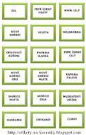 Etikety na kořenky - zelený okraj