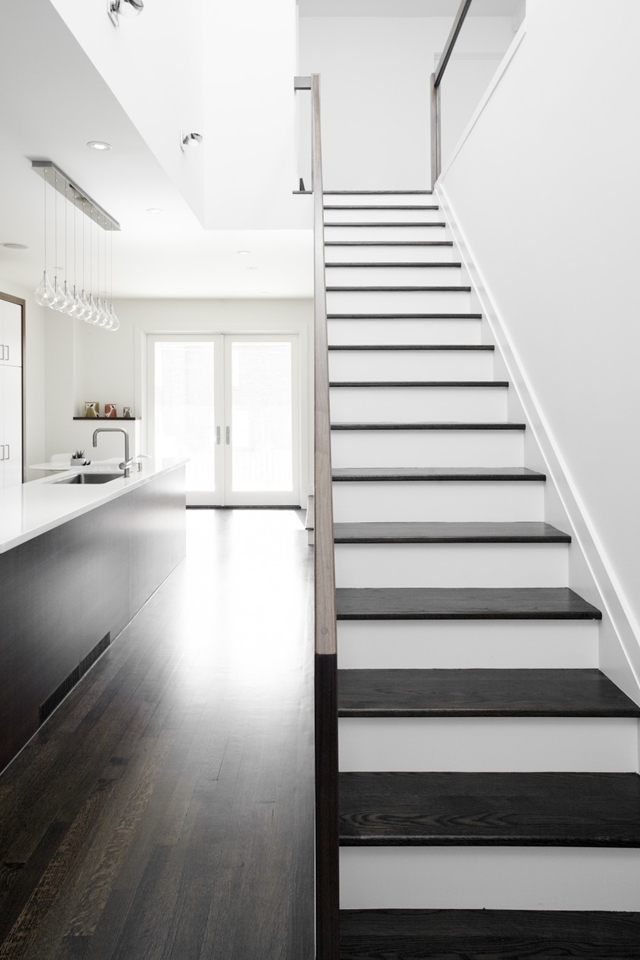 Picture of black and white minimalist staircase in the small home