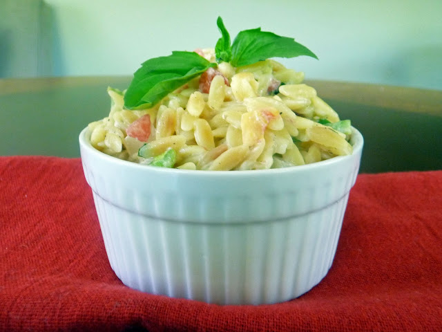 Garlic and Parmesan Orzo with Fresh Veggies | by Life Tastes Good #Orzo #Pasta #Vegetables