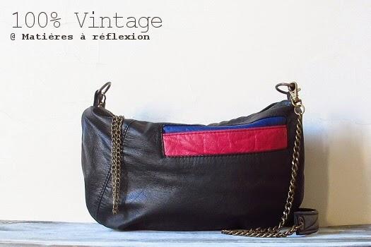 sac en cuir vintage recyclé