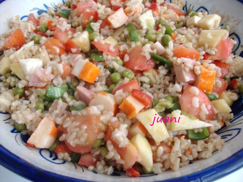 Las cosillas que hago ensalada de arroz integral riqu sima - Ensalada de arroz light ...