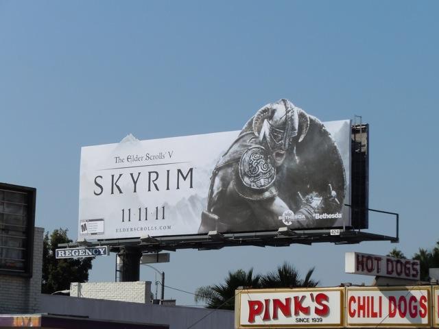 Elder Scrolls V Skyrim billboard