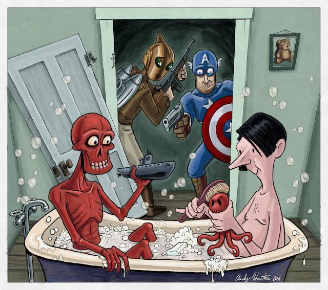 Captain America - Rocketeer por andyjhunter