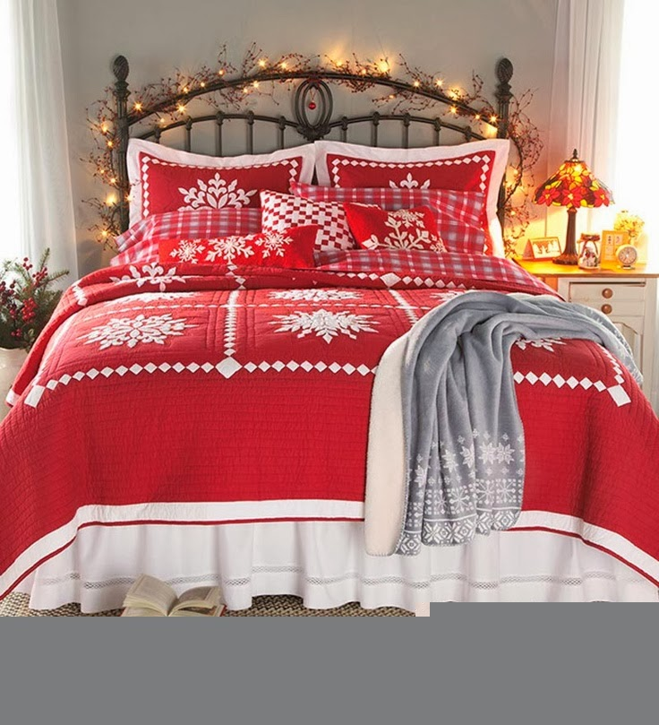 Shabby In Love: Christmas Bedroom Decorating Ideas