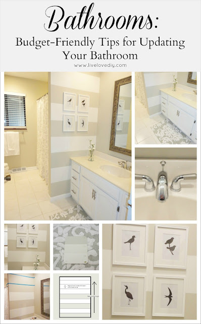 Tips &amp; Tricks to Update Old Bathrooms: Budget friendly solutions anyone can use!
