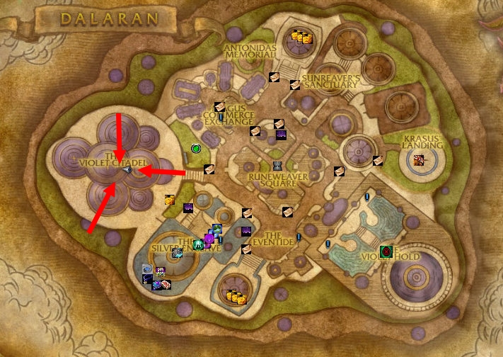how to get to wyrmrest temple from dalaran