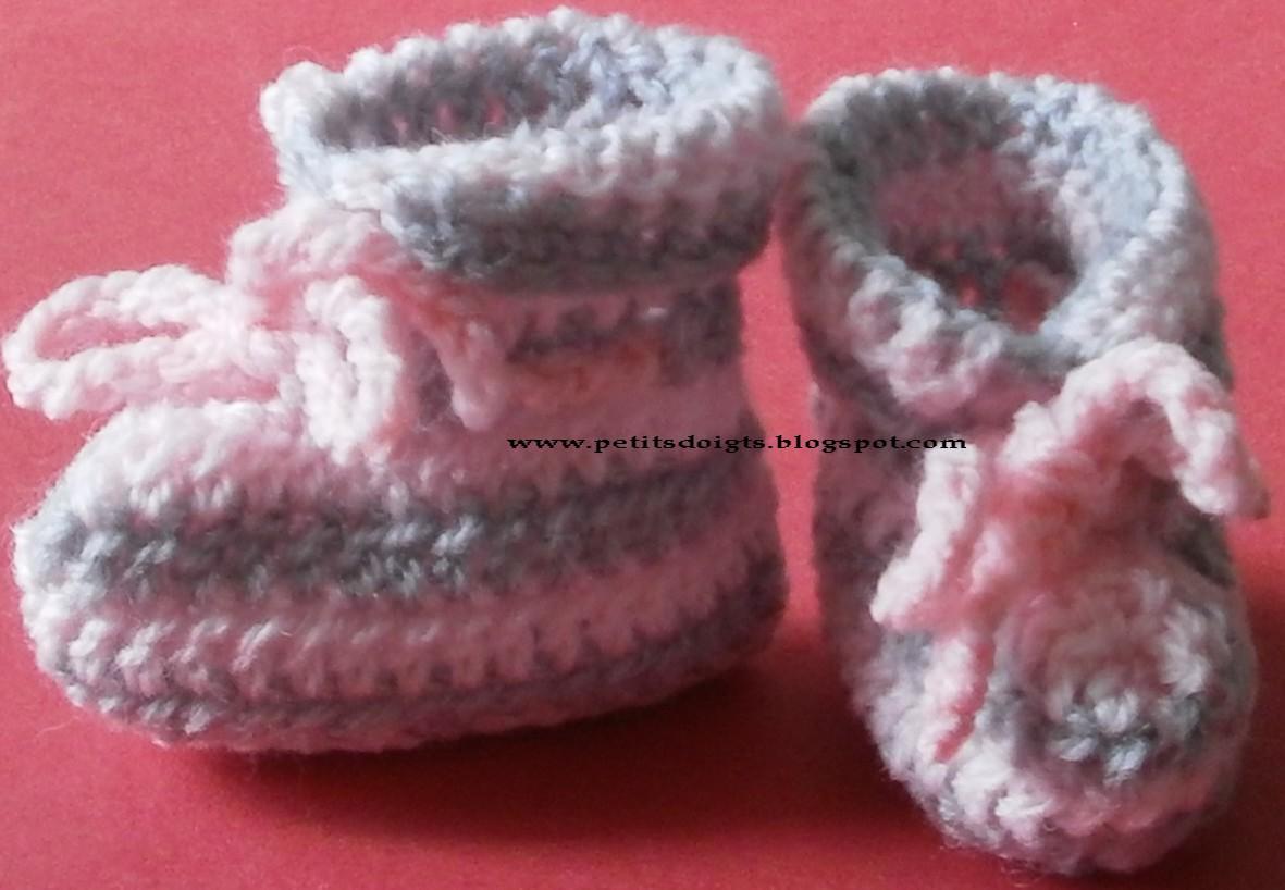 modele de chaussons au crochet gratuit