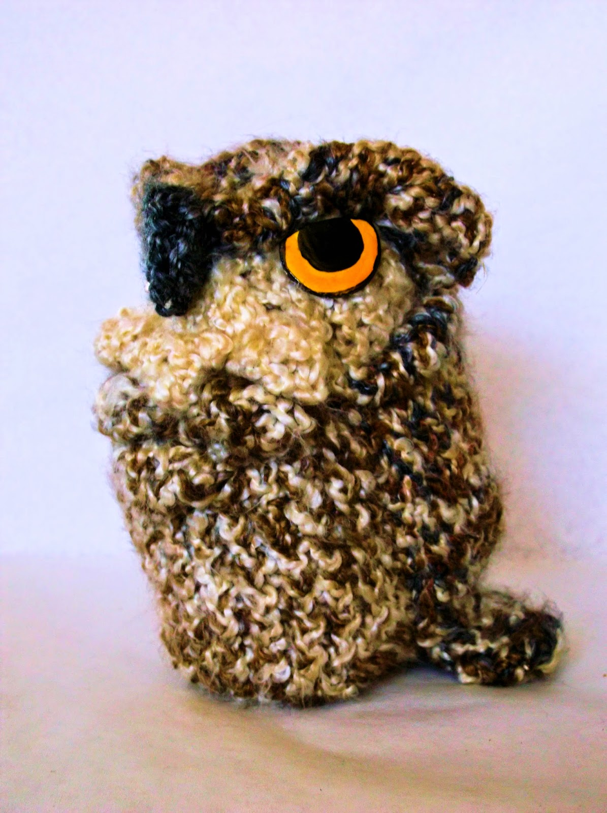 Knitting By Post Owl : The loom muse knit owl bag