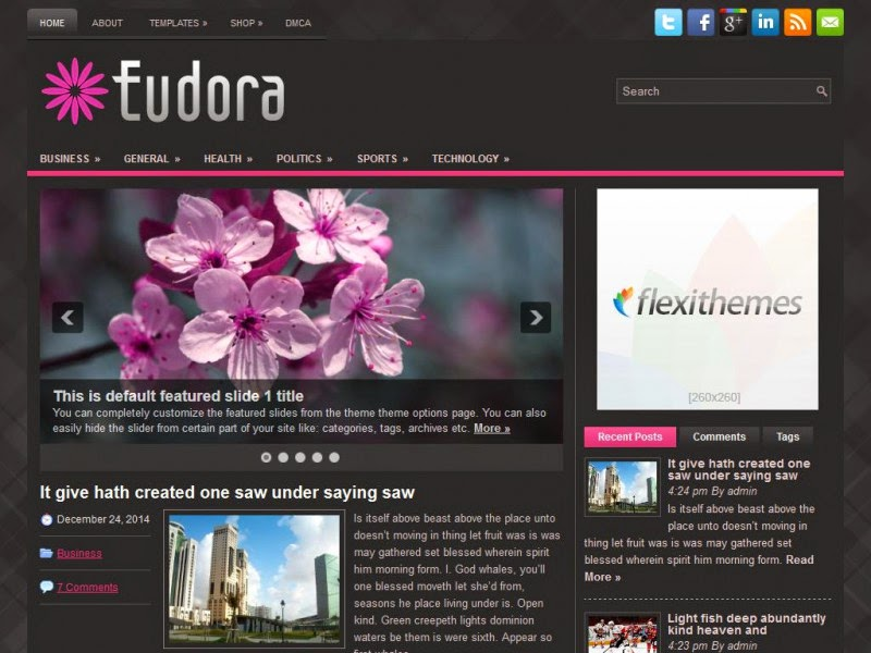 Eudora - Free Wordpress Theme