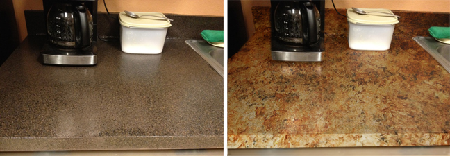 Giani granite countertop paint how to cover up rustoleum for Can you paint granite countertops