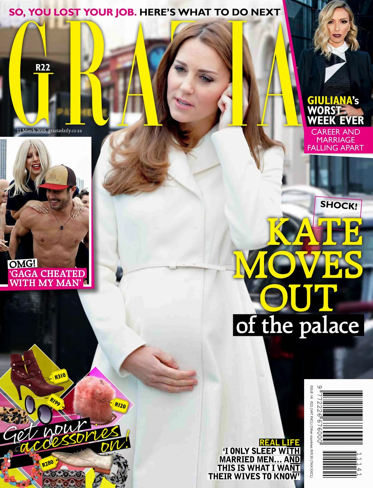 Princess, Duchess of Cambridge @ Kate Middleton - Grazia South Africa, March 2015