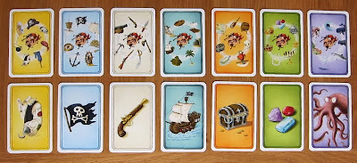 Alles Kanone! - The 7 Topic Cards with a random 7 Pirate Cards