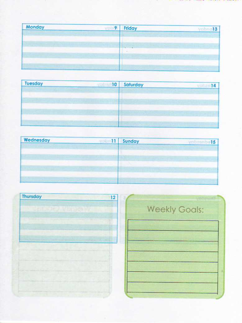 day planner word template