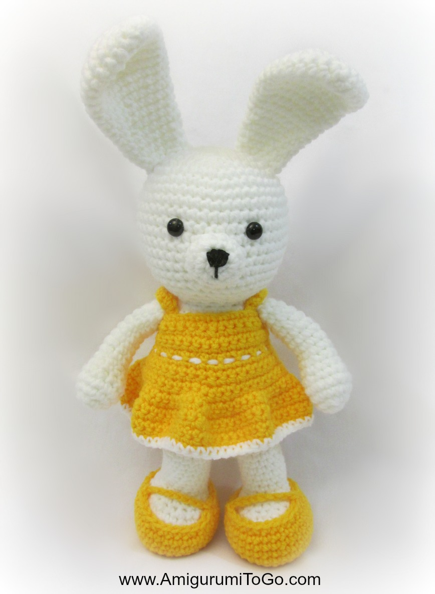 Bunny Amigurumi To Go : Easy Spring Time Dress For Bunny ~ Amigurumi To Go