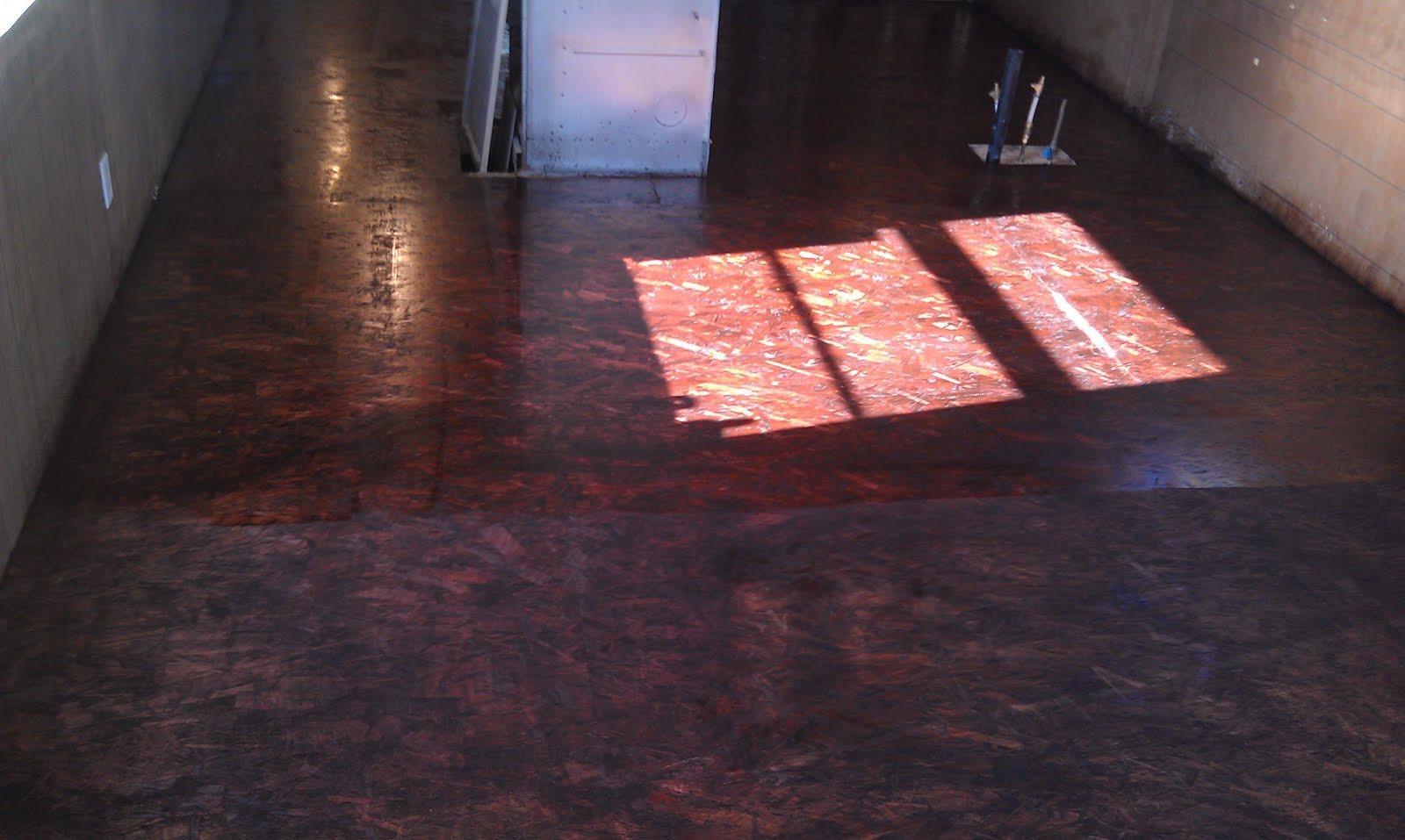 Osb Board Flooring ~ The commodore s renovations staining and varnishing an