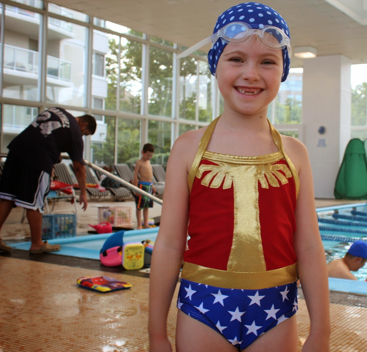 Beau Baby Finished Project Wonder Woman Swimsuit