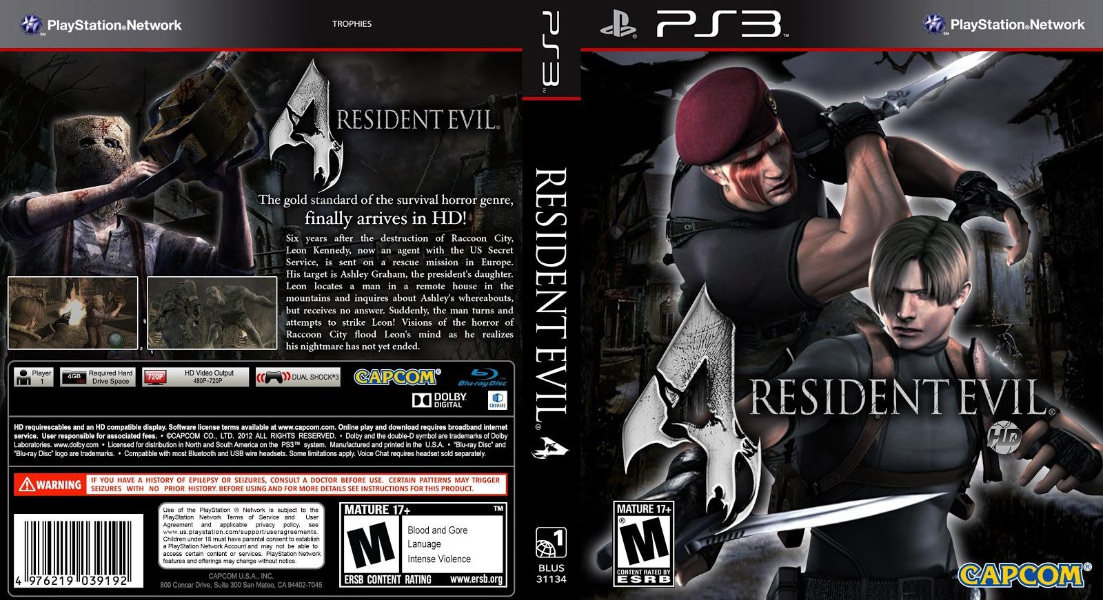 Capa Resident Evil 4 PS3
