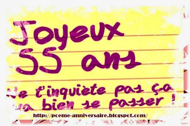 Poeme D Anniversaire 55 Ans Meilleurs Voeux