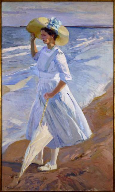 Sorolla: Elena en la playa, 1909
