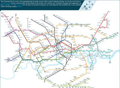 London Geographic Tube Map