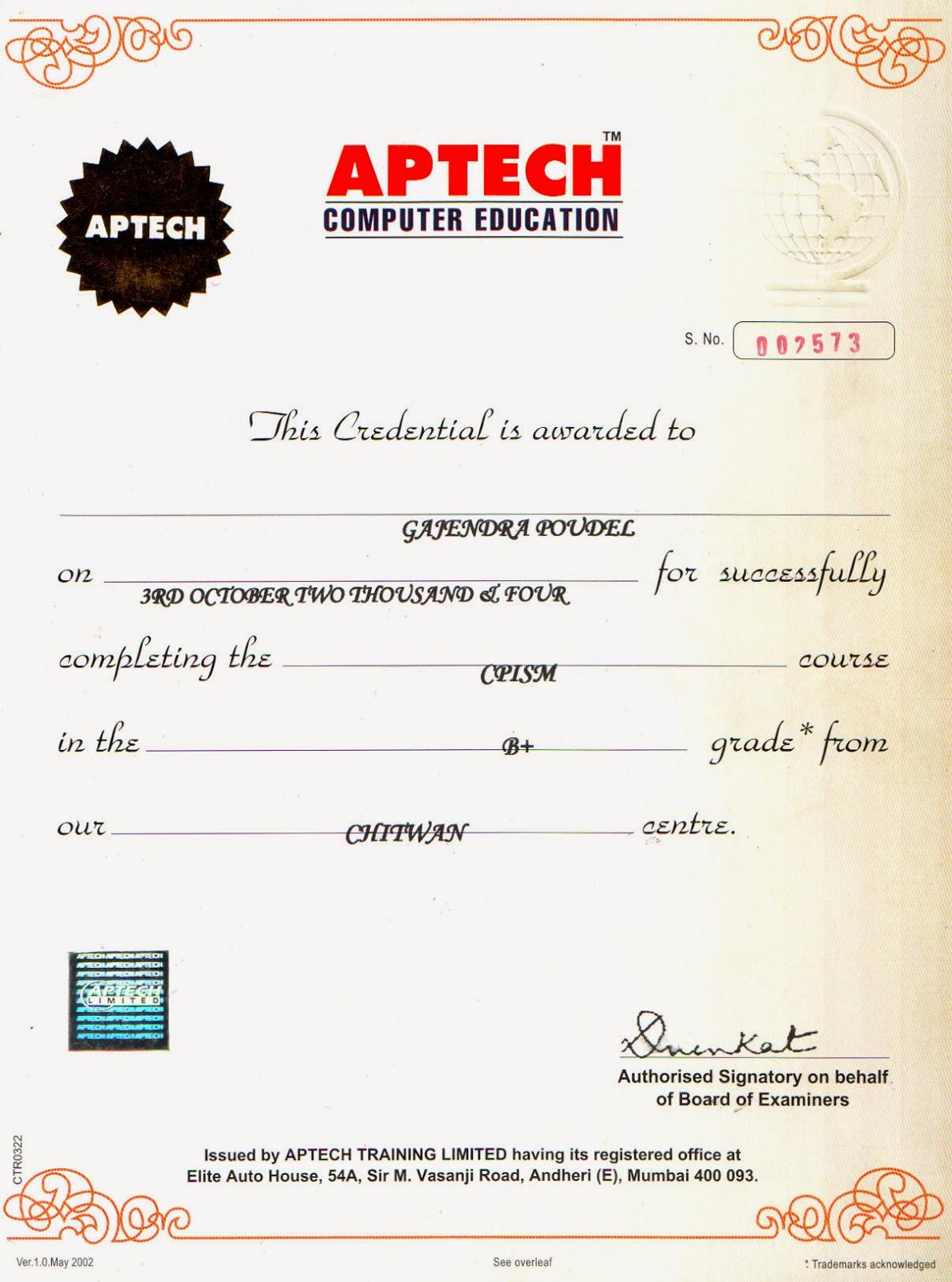 Aptech computer education certificate aptech computer education xflitez Gallery