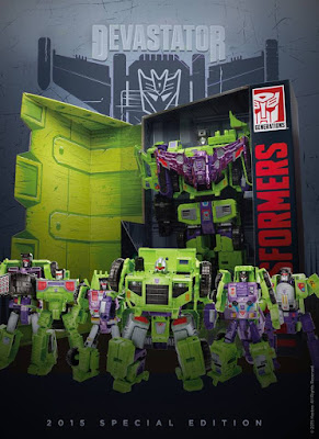 San Diego Comic-Con 2015 Exclusive Transformers Devastator Box Set by Hasbro