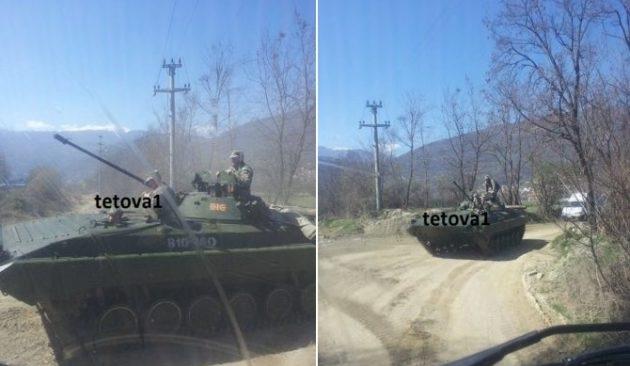 Οι Σκοπιανοί έστειλαν τεθωρακισμένα να κόβουν βόλτες στις αλβανικές περιοχές στα Σκόπια