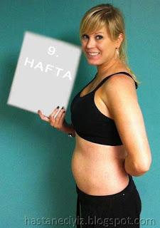 hamileliğin 9. haftasına karın