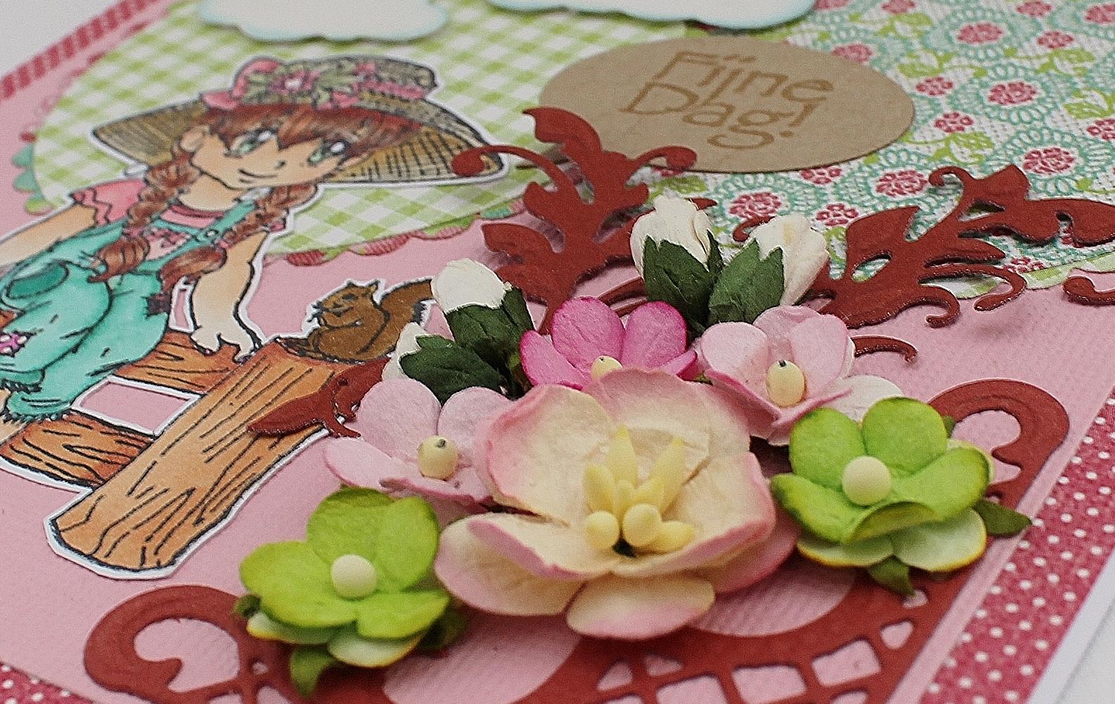123scrapping blog: 'lily op hek' eerste kaart jolanda