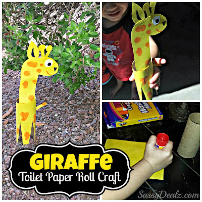 giraffe toilet paper roll craft for kids