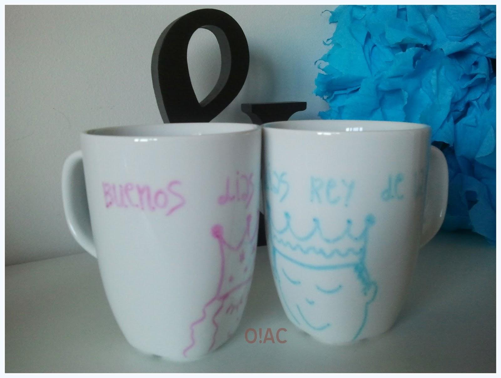 Oui art crafties pintando tazas de porcelana for Tazas de porcelana