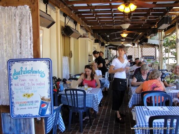 porch at Awful Annie's restaurant in Auburn, California