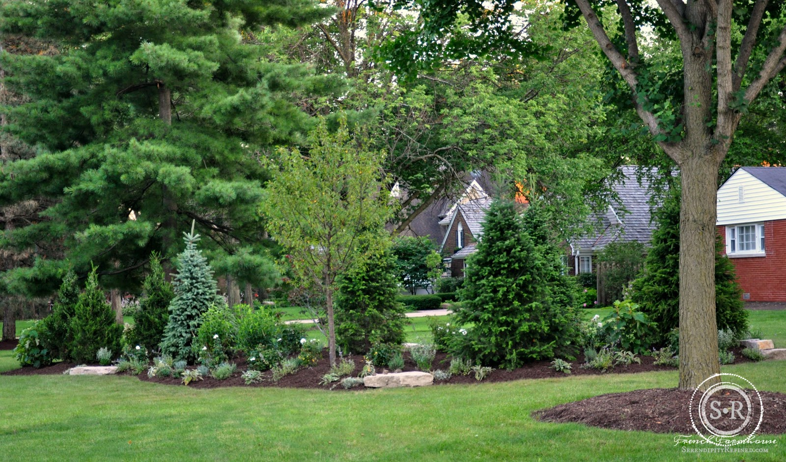 Serendipity refined blog how to landscape a corner lot for Creating a landscape