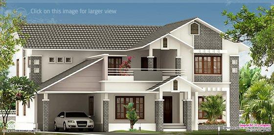 2900 sq-ft villa elevation