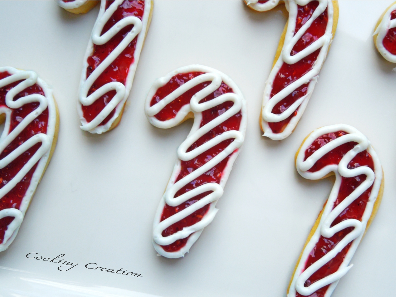 Cooking Creation: Raspberry Shortbread Candy Cane Cookies
