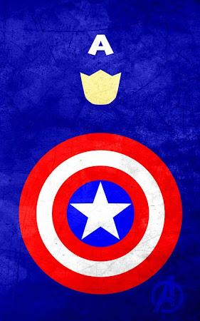 Poster Pahlawan Super dengan Gaya Minimalis