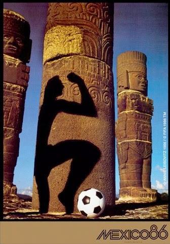Cartaz Oficial da Copa do Mundo realizada em 1986, no México.