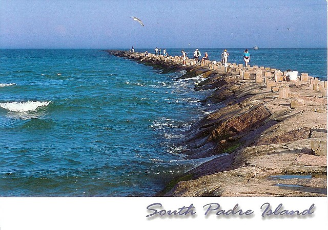 Postcards and road trips south padre island jetty for South padre island fishing