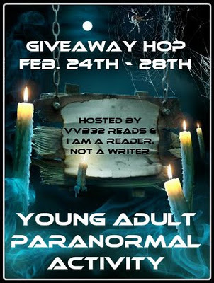 Welcome to my stop on the Young Adult Paranormal Activity Giveaway Hop!