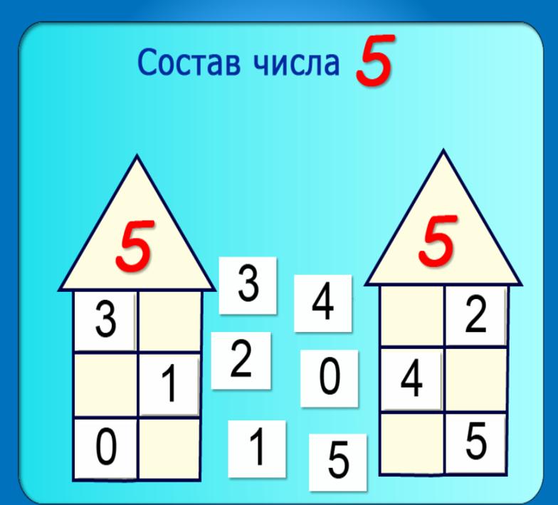 5 игры составом числа по знакомству с