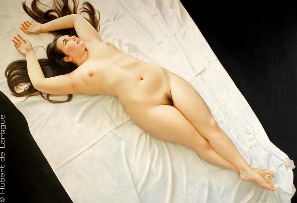 Mujer desnuda natural real
