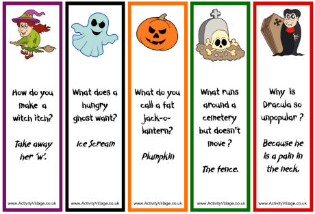From The Heart Up.: FREE Halloween Bookmarks