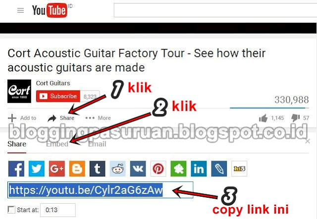 Cara Pasang Video Youtube Responsive di Blog