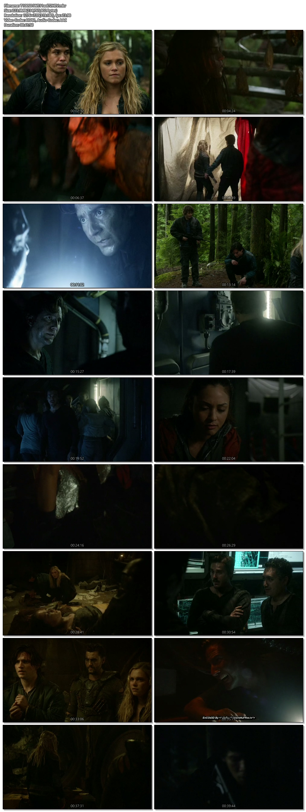 Screenshots Of Hindi Dubbed Show The 100 2014 S01E12 300MB 720P HD