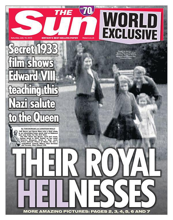 Photo Shows British Queen Elizabeth II and Queen Mother Being Taught Nazi Salute By Edward VIII