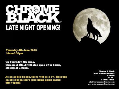 Late Night Opening: Thursday 4th June 2015  Latenight