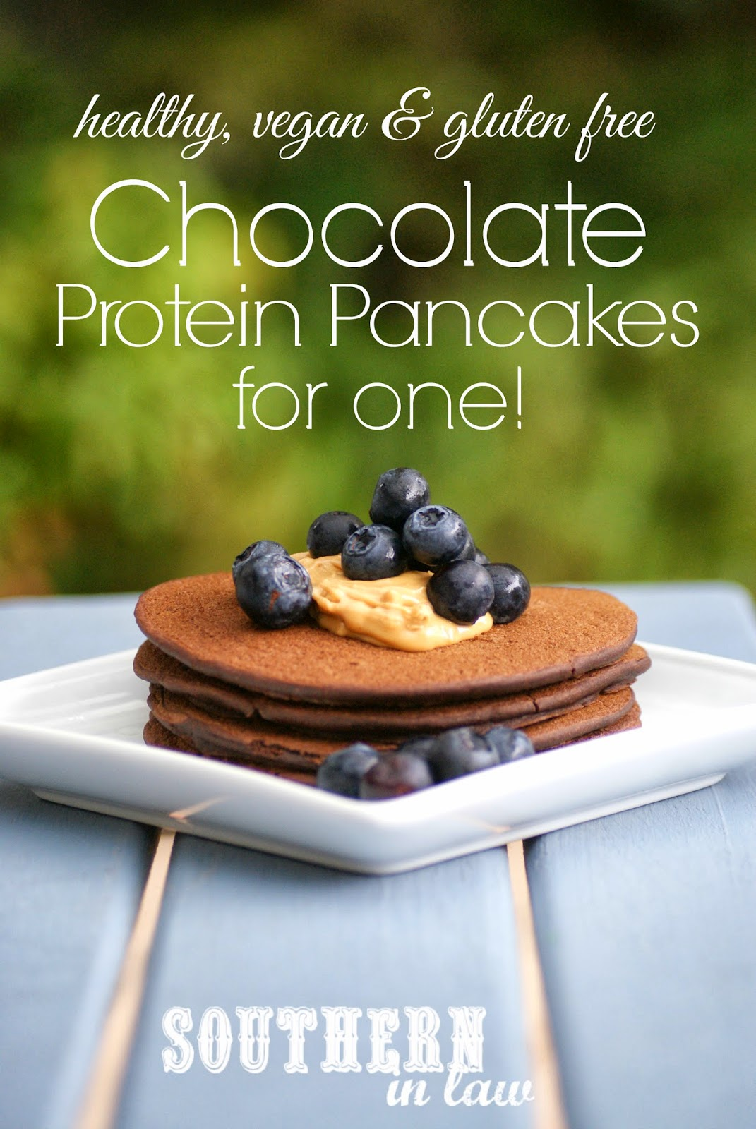 Vegan Chocolate Protein Pancakes for One - Healthy, Gluten Free, Sugar Free Recipe