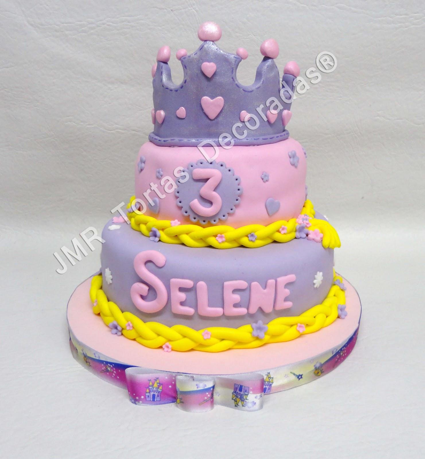 Torta y cookies Rapunzel para Selene | JMR Tortas Decoradas