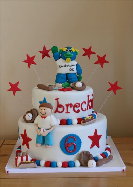 Breckins 6th Baseball Theme Birthday Cake The Couture Cakery
