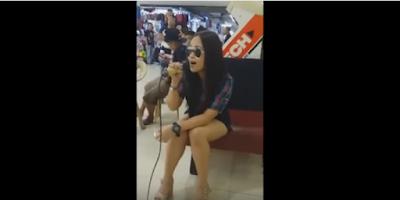 She sang Sayang Na Sayang Talaga by Aegis